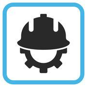 Development Helmet Vector Icon In a Frame Stock Illustration