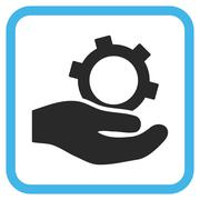Engineering Service Vector Icon In a Frame Stock Illustration