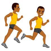 Athletic Man Runner Stock Illustration