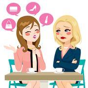 Women Boasting Gossiping Stock Illustration