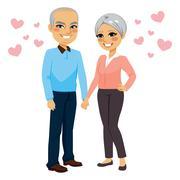 Senior Couple Love Stock Illustration
