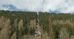 Cableway in the Alps Stock Footage