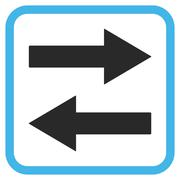 Horizontal Flip Arrows Vector Icon In a Frame Stock Illustration
