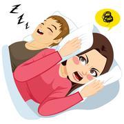 Man Snoring Noise Piirros