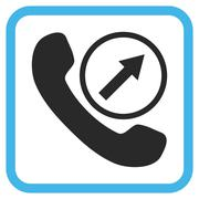 Outgoing Call Vector Icon In a Frame Stock Illustration
