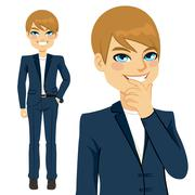 Young Casual Businessman Stock Illustration
