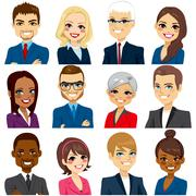 Business People Avatar Set Collection Stock Illustration