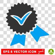 Validation Seal Eps Vector Icon Stock Illustration