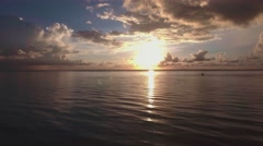 Scenic sunset at South Beach, Miami Stock Footage