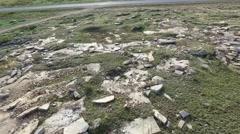 Stony area, aerial shot Stock Footage