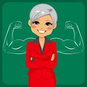 Strong Senior Business Woman Stock Illustration
