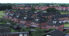 Dutch urban area aerial shot with drone | houses Stock Footage