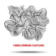 Ink hand drawn texture. Psychedelic monochrome background. Marble pattern Stock Illustration