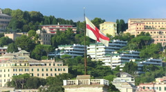 The flag of Genoa Stock Footage