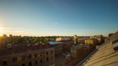 A timelapse from sunset to sunrise over city skyline Stock Footage