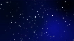 Sparkly white light particles moving across a black blue gradient background Stock Footage