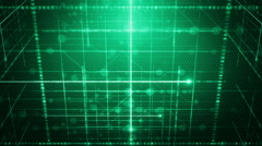 Background line with light Tilt Green LOOP Stock Footage