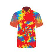 Colorful  T-shirt depicting abstract psychedelic. Vector Illustr Stock Illustration