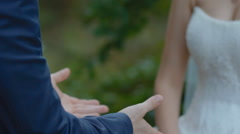 Groom  kiss the hands of his bride Stock Footage