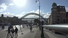 Tyne Bridge at day time in newcastle , united kingdom circa october 2016 Stock Footage