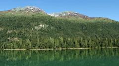 Cruising on a lake near San Carlos de Bariloche, Argentina Stock Footage