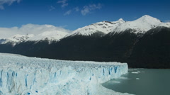 Time lapse of clouds over the Perito Moreno Glacier, Argentina Stock Footage