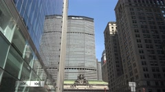 View up Park Ave towards the MetLife builidngManhattan, New York. Stock Footage