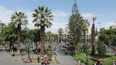 The town square in Arequipa, Peru Stock Footage