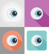 Halloween eyeball flat icons vector illustration Stock Illustration