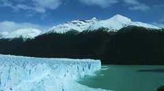 Wide-angle view of the Perito Moreno Glacier, Argentina Stock Footage