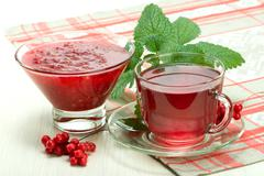 Jam and drink from Schisandra chinensis Stock Photos