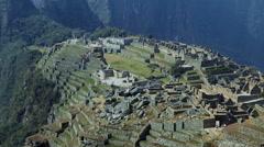 View of Macchu Pichu in Peru Stock Footage