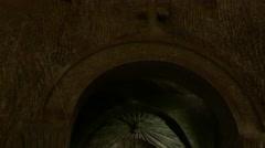 Statue of Jesus in St. Kinga's Chapel, deep in the Wieliczka salt mine Stock Footage