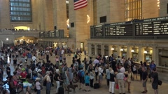 The Main Concourse in Grand Central Terminal, Manhattan, New York City. Stock Footage