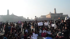Public rally in india Stock Footage