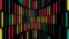 Colorful neon lamps equalizer music visual Stock Footage