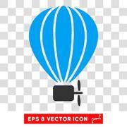 Aerostat Balloon Eps Vector Icon Stock Illustration
