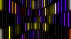 Blinking neon lamps music video VJ equalizer Stock Footage