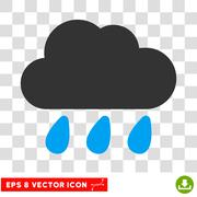 Rain Cloud Eps Vector Icon Stock Illustration