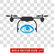 Spy Drone Eps Vector Icon Piirros