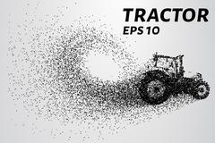 Tractor of the particles. The tractor consists of small circles. Piirros
