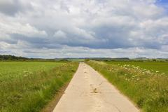 Bridleway in the yorkshire wolds Stock Photos