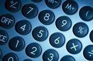 Illuminated numerical pad detail Stock Photos