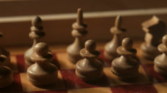 Chess pieces.Pan Stock Footage