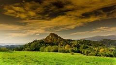 Pieniny mountains in autumn. Stock Footage