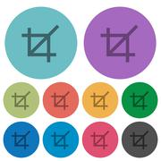 Color crop tool flat icons Stock Illustration