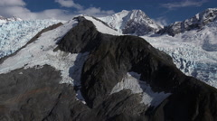 Aerial Reveal Mt Dagelet and Glacier Alaska Stock Footage