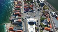 Aerial overview world heritage in Pietermaai, Curacao Stock Footage