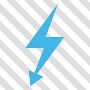 Electric Strike Vector Icon Stock Illustration
