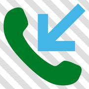 Incoming Call Vector Icon Stock Illustration